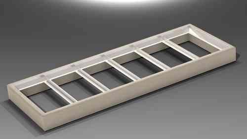 TR.1030.RB Betonkranz für 6 Deckel Typ 100B Art 314-21-3406