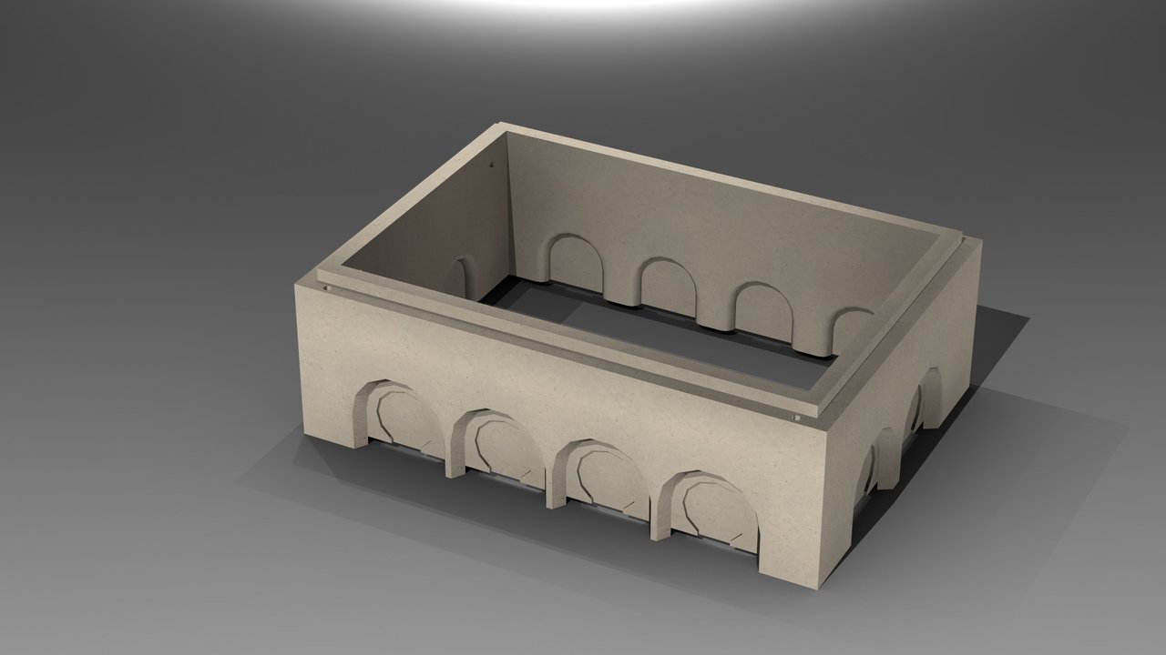 modularer Kabelschacht Lichtweiten 100x150 cm Tiefe 118 cm D400 inkl. ECO Abdeckung 3 Deckel