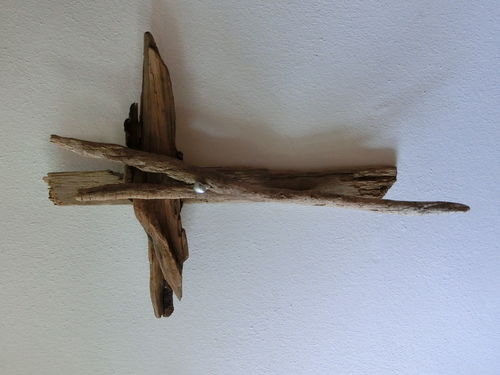 Treibholz Wood Art Deco Herrgott Kreuz Cross God gross big