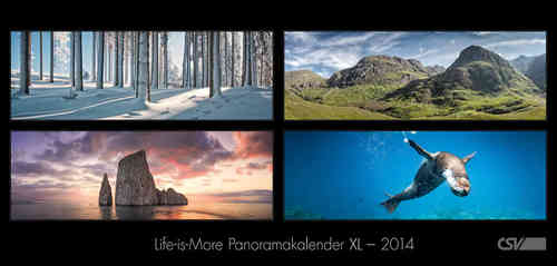 Life is more - Panoramakalender XL 2014