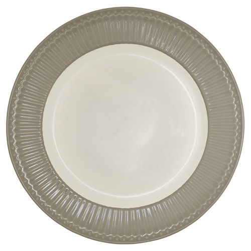 "Essteller ""Alice"" (warm grey) von GreenGate. Speiseteller - Dinnerplate"