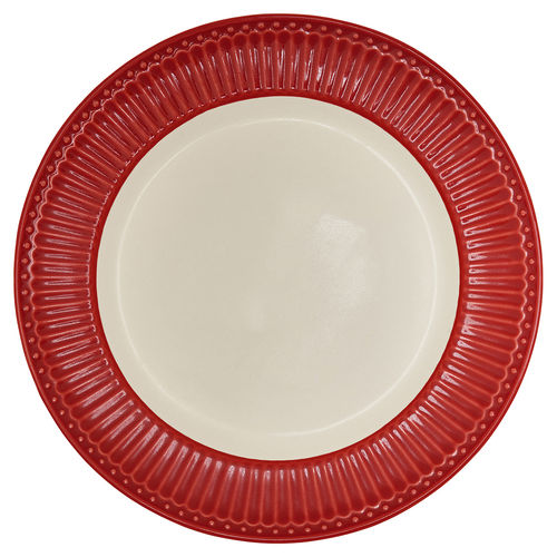 "Essteller ""Alice"" (red) GreenGate. Speiseteller - Dinnerplate"