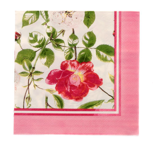 "Papierservietten ""Traditional Rose"" RHS von Ulster Weavers. Paper napkin"