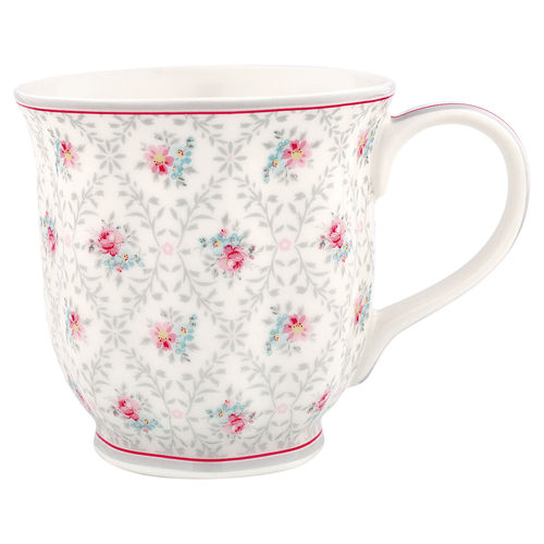 "Tasse ""Daisy"" (pale grey) von GreenGate. Tea mug"