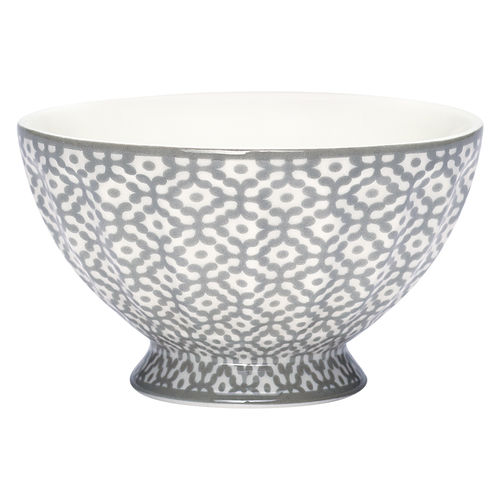 "Schale ""Jasmina"" (warm grey) von GreenGate. French bowl medium"