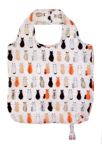 "Mini-Maxi Shopper ""Cats in Waiting"" von Ulster Weavers. Packable bag"
