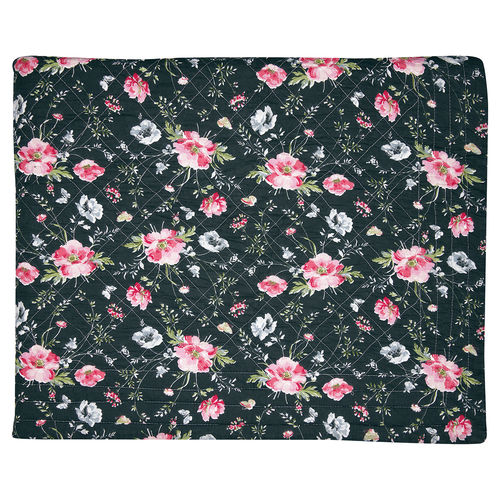 "Quilt ""Meadow"" (black), 140x220cm von GreenGate. Steppdecke"