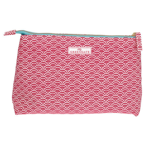"Necessaire ""Nancy"" (red) von GreenGate. Cosmetic bag large"