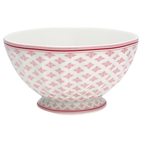 "Schale ""Sasha"" (pale pink) von GreenGate. French bowl x-large"