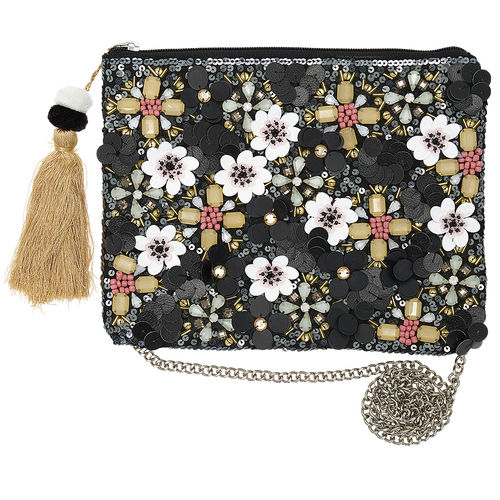 "Handtasche ""Floral"" (black with pale pink) von GreenGate. Hand bag"