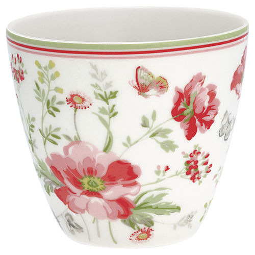 "Latte Cup ""Meadow"" (white) von GreenGate. Tasse - Becher - Chacheli"