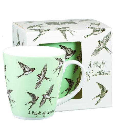 "Tasse ""A Flight of Swallows"" von Queens by Churchill. Mug"