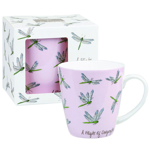 "Tasse ""A Flight of Dragonflies"" von Queens by Churchill. Mug"