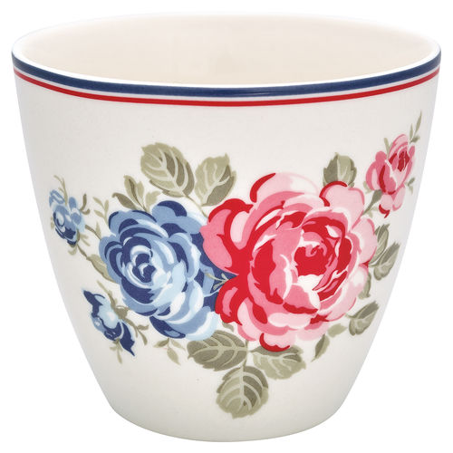 "Latte Cup ""Hailey"" (white) von GreenGate. Tasse - Becher - Chacheli"