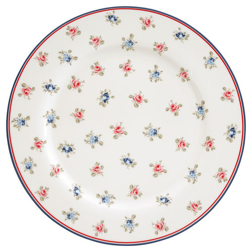 "Essteller ""Hailey"" (white) von GreenGate. Speiseteller - Dinner plate"