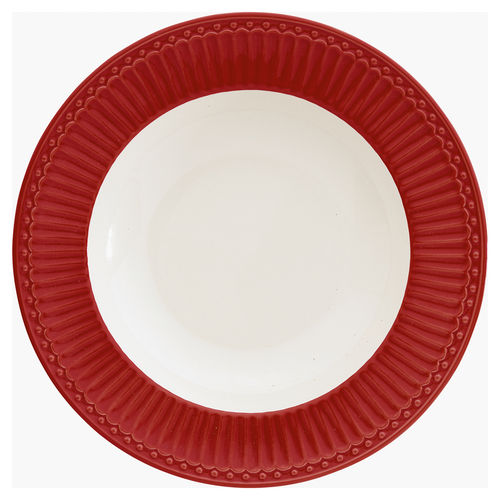 "Suppenteller ""Alice"" (red) von GreenGate. Tiefer Teller - Deep Plate"