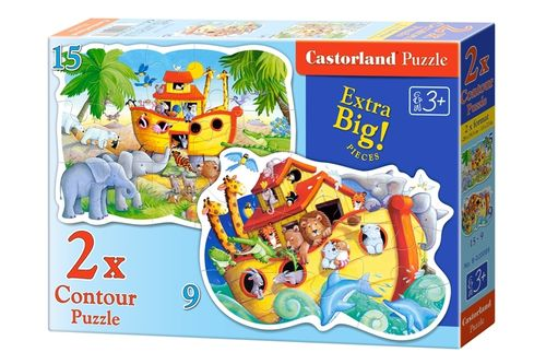 Castorland - Arche Noah - 9 + 15 Teile 2in1 Formpuzzle