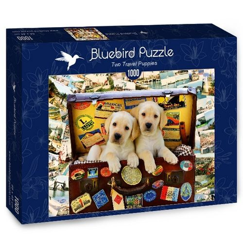Bluebird - Two Travel Puppies - 1000 Teile